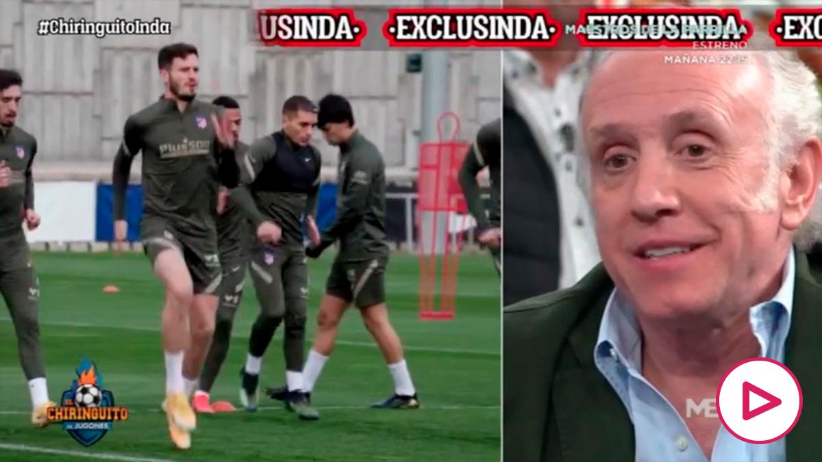 Inda desveló lo que le dijeron los jugadores del Atlético a Simeone.