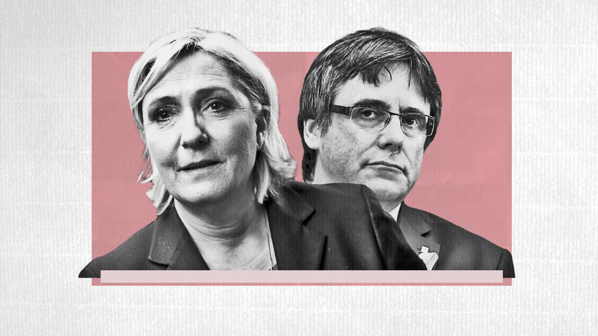 Marine Le Pen y Carles Puigdemont
