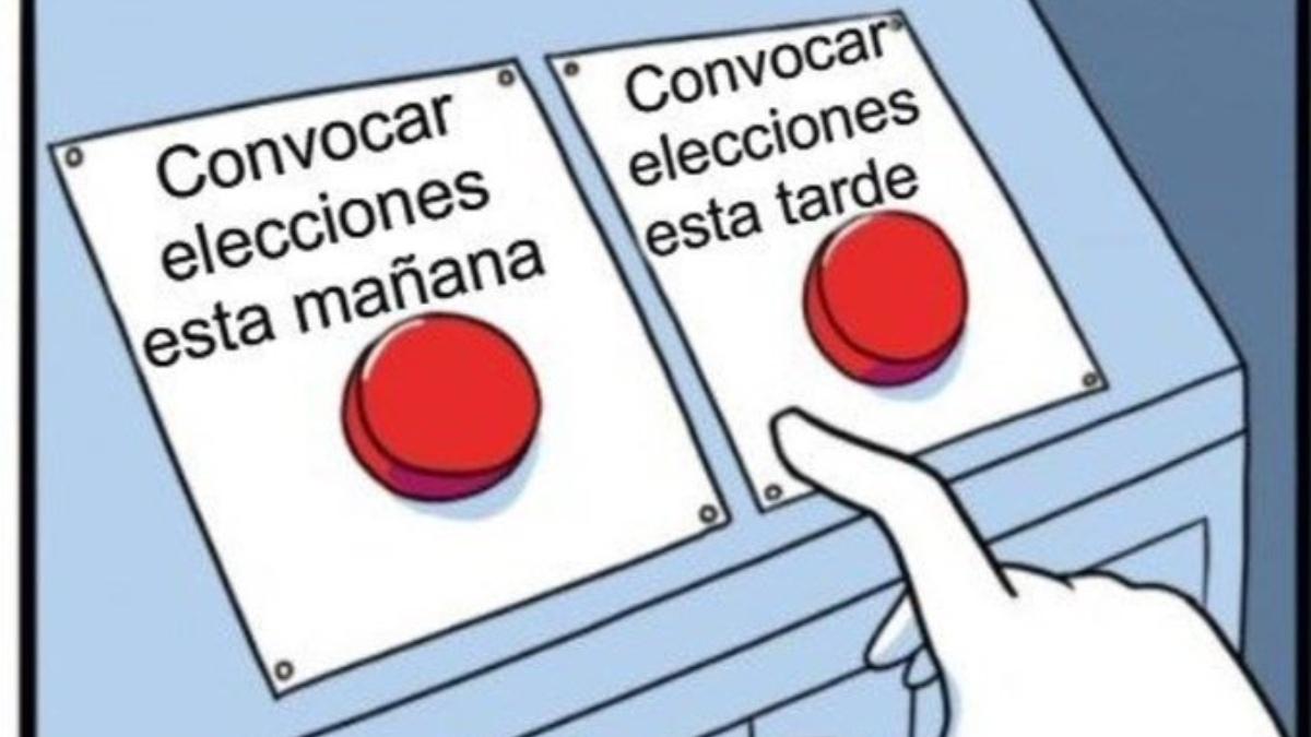 Los mejores memes sobre la convocatoria de elecciones en Madrid de Isabel Díaz Ayuso