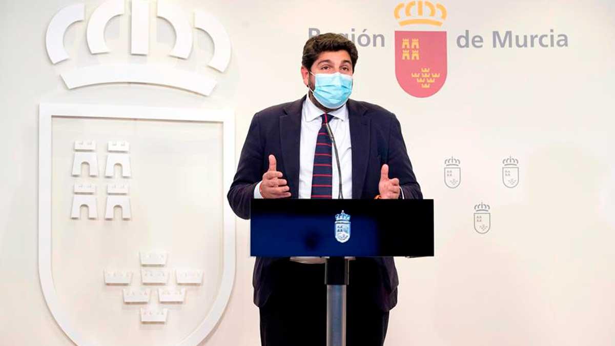 El presidente de la Comunidad de Murcia, Fernando López Miras. (Foto: EFE)