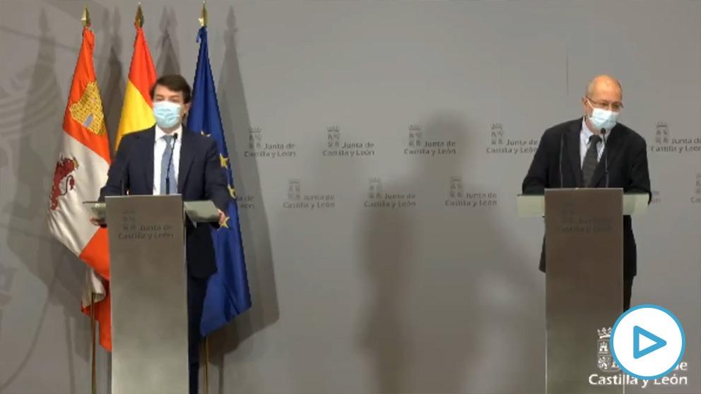 Alfonso Fernández Mañueco y Francisco Igea escenifican la «estabilidad y cohesión» del Gobierno de Castilla y León.