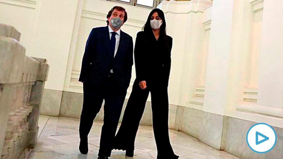 El alcalde de Madrid, José Luis Martínez-Almeida, y la vicealcaldesa, Begoña Villacís.