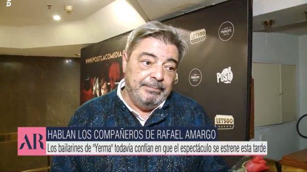 Antonio Canales habla de la detención de su amigo Rafael Amargo