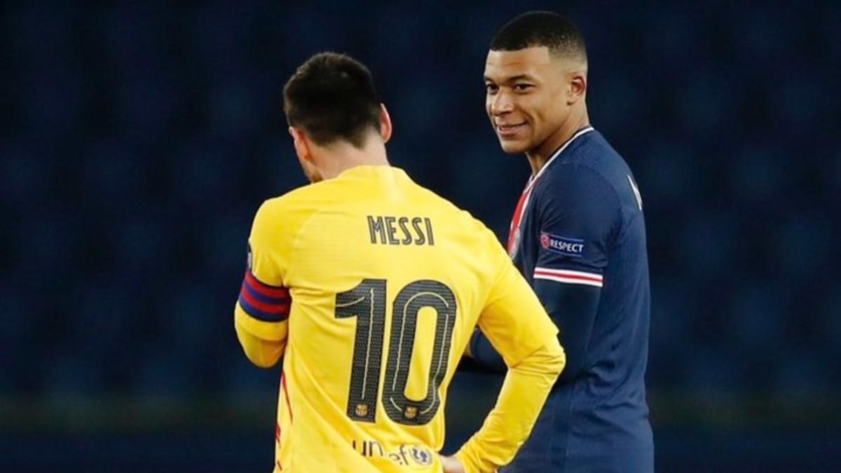 Kylian Mbappé y Leo Messi.