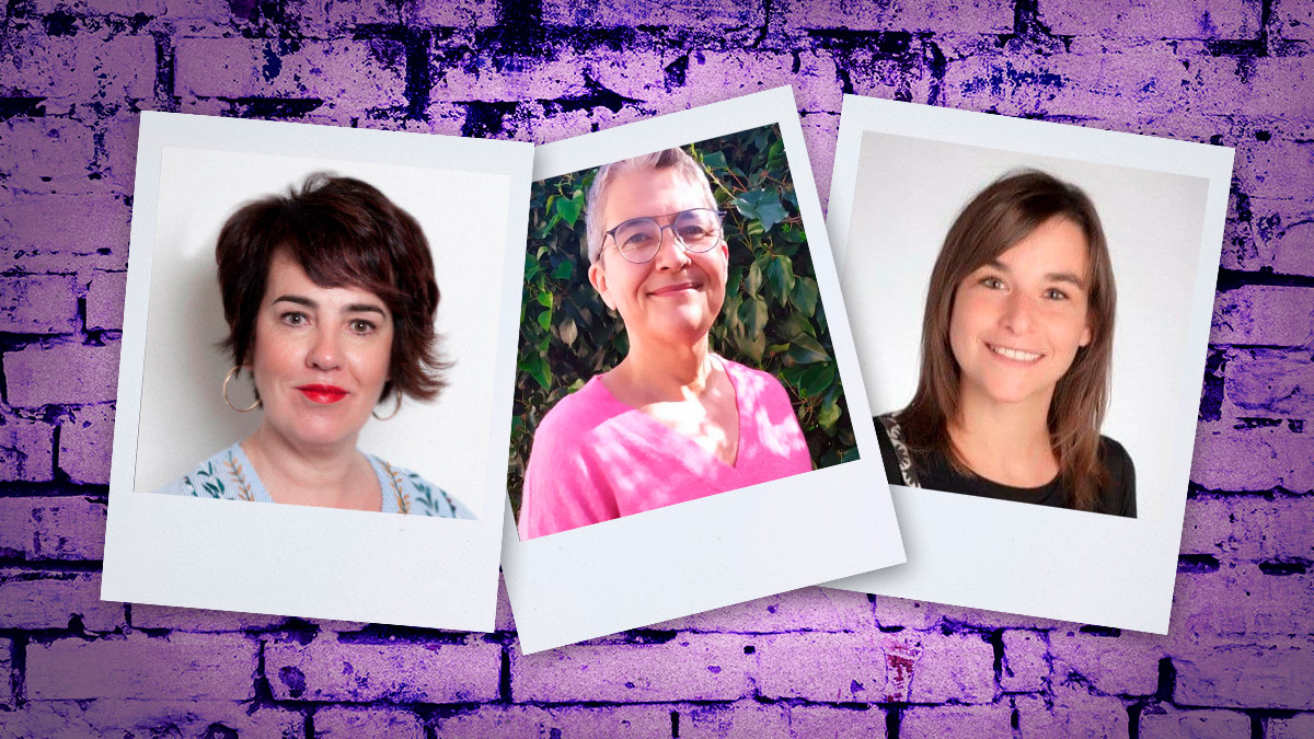 Las tres candidatas de Podemos Navarra.