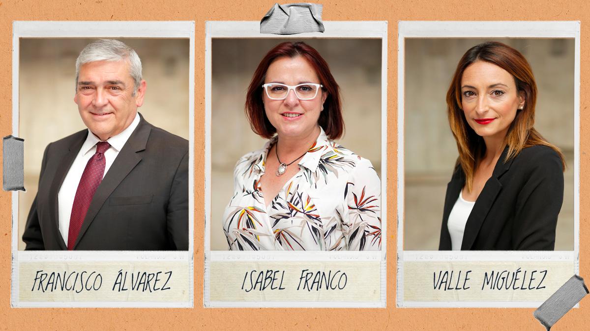 Los tres diputados de Ciudadanos en Murcia que rechazan la moción de censura.