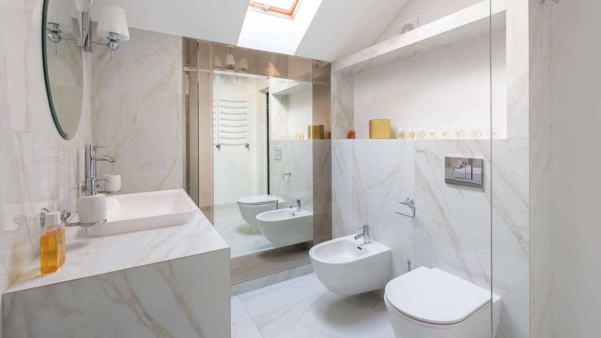 Los espacios pequeños suelen ser habituales en los baños
