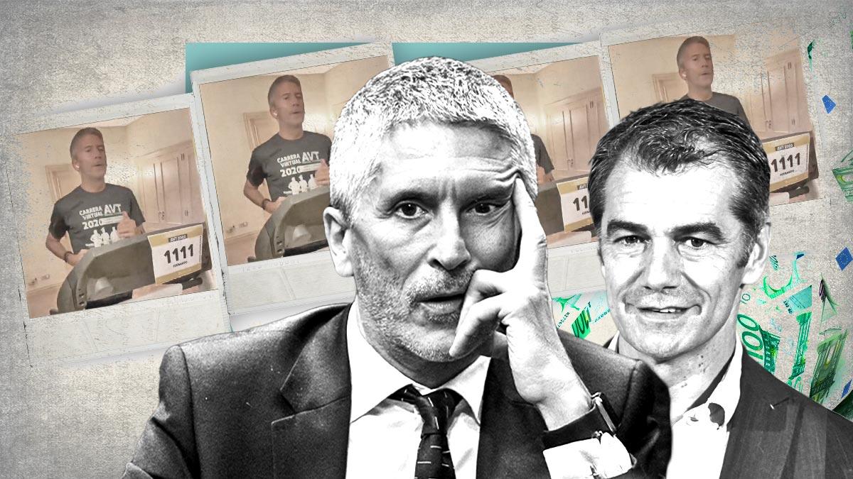 Toni Cantó, líder de Ciudadanos en la Comunidad Valenciana, y Fernando Grande-Marlaska, ministro del Interior.