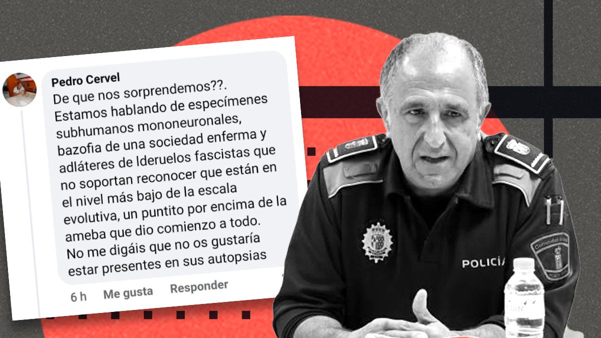 El jefe de la Policía de Getafe y el polémico mensaje que lanzó.