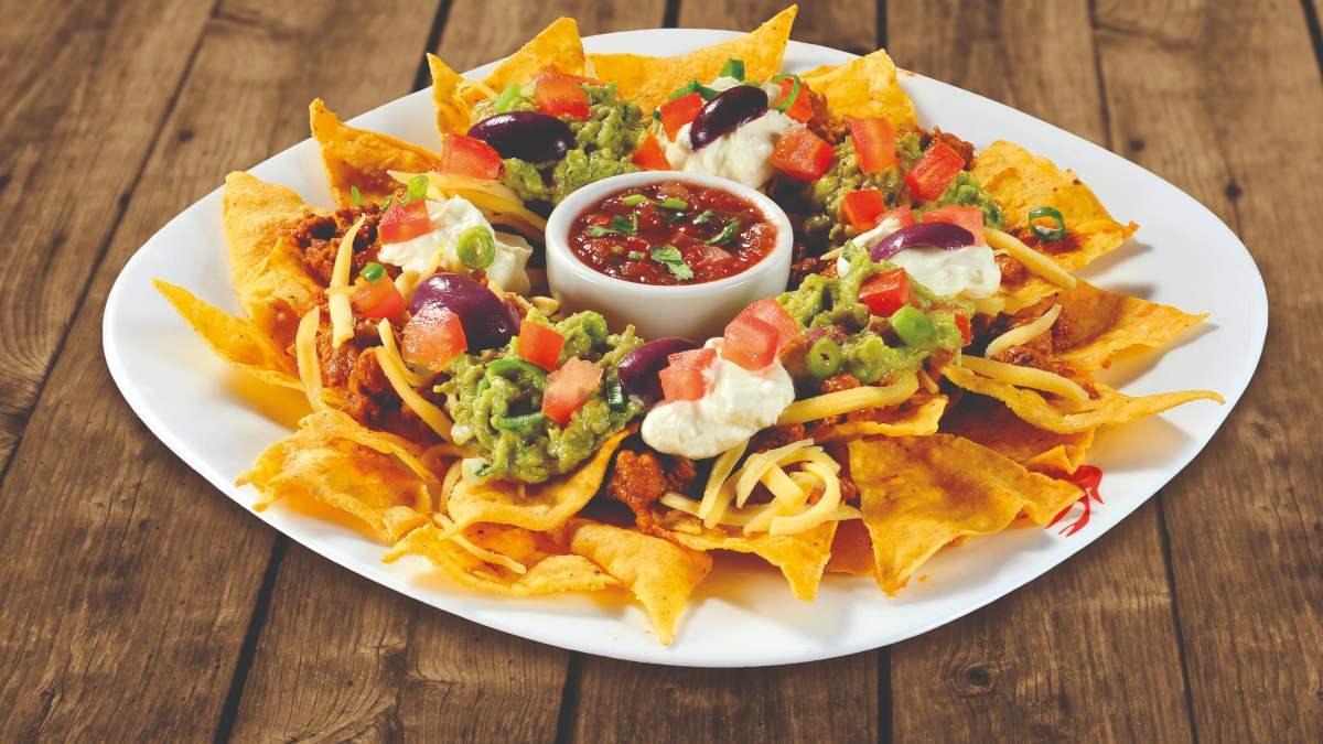 Receta de nachos con frijoles