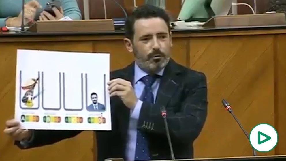 José Ramón Carmona (PP) deja por los suelos al ministro Garzón tras sus ataques al aceite de oliva.