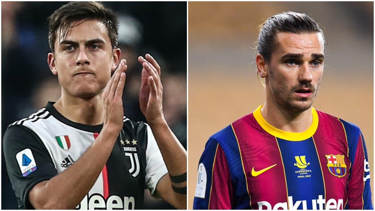 Paulo Dybala y Antoine Griezmann pueden protagonizar otro trueque entre Juventus y Barça.