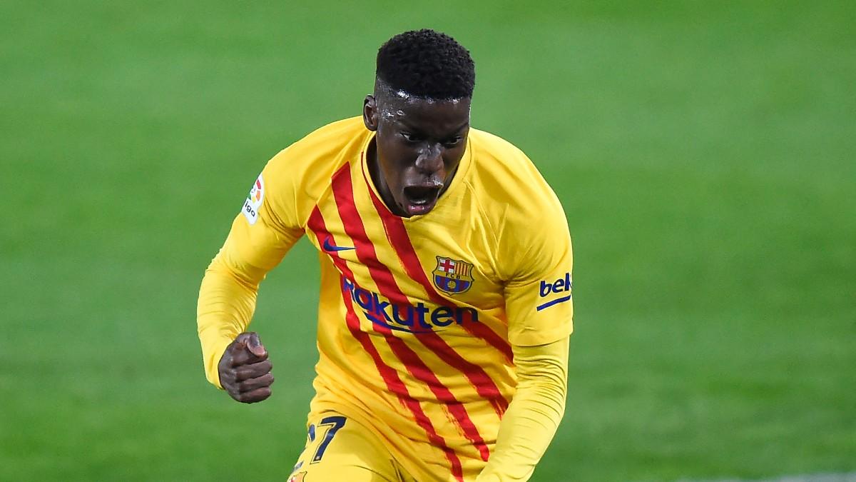 Ilaix Moriba celebra un gol. (AFP)