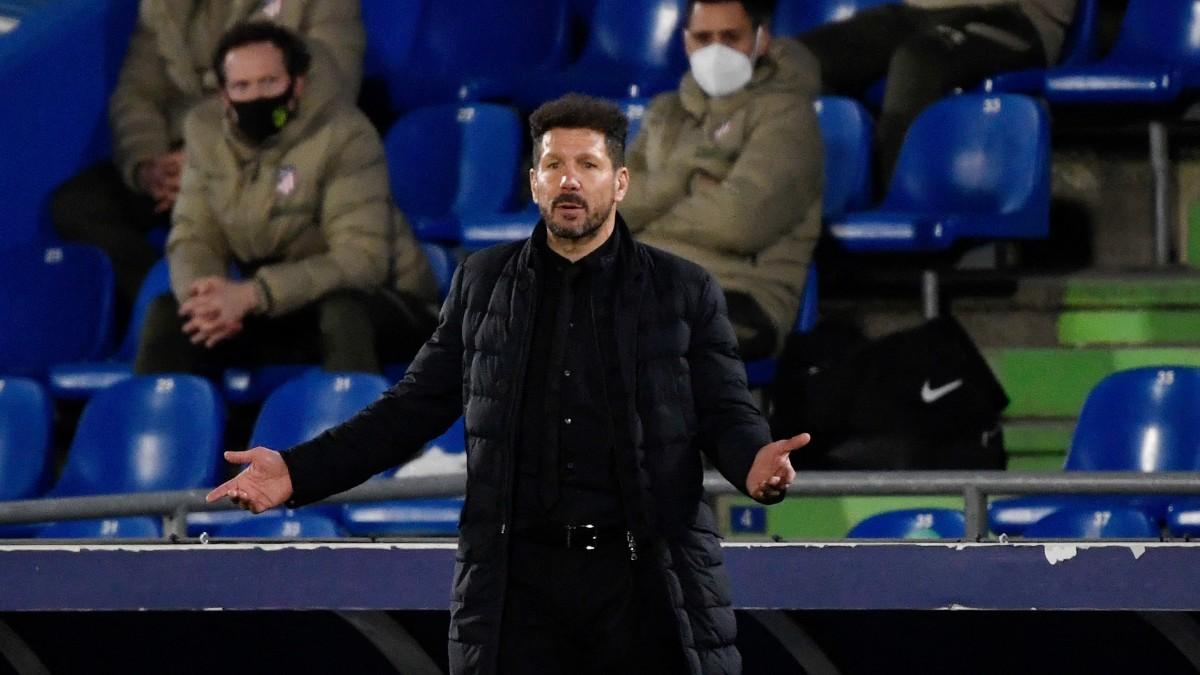 El Cholo Simeone durante el Getafe-Atlético de Madrid. (AFP)