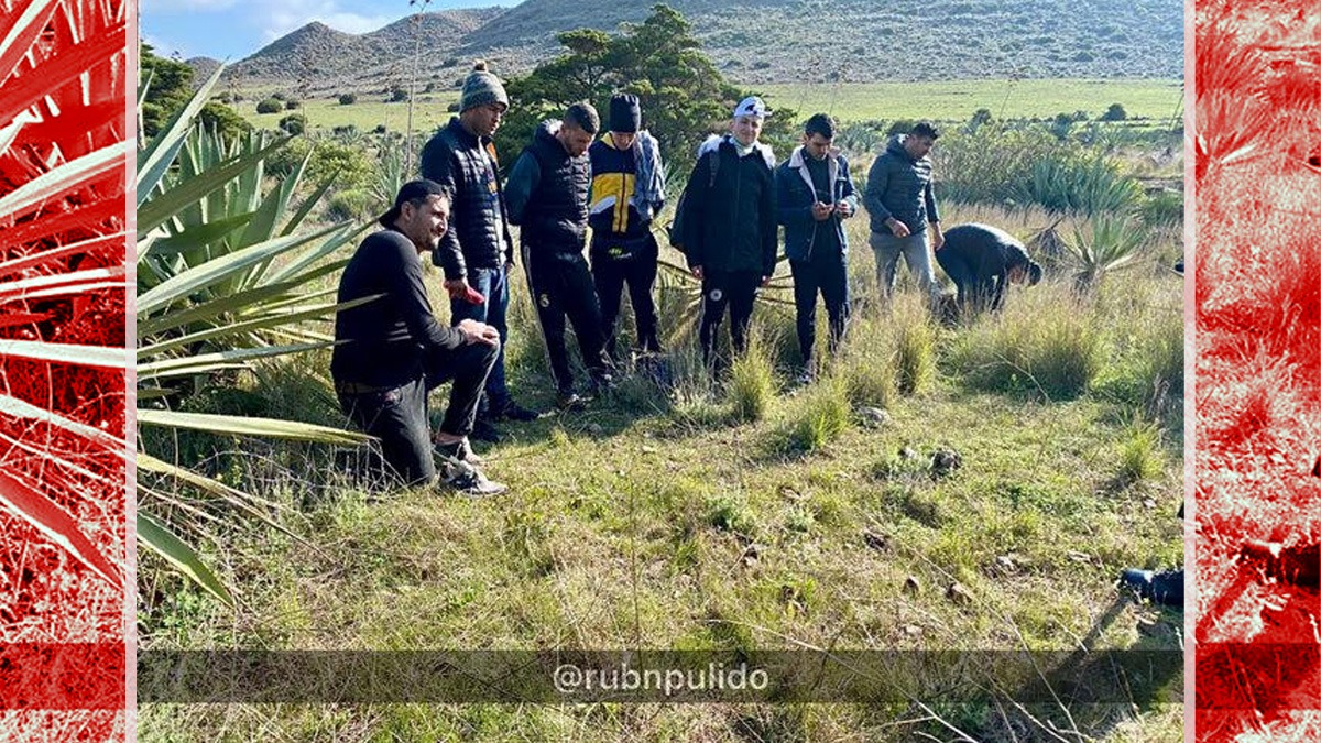 Inmigrantes ilegales interceptados en montes de Almería.
