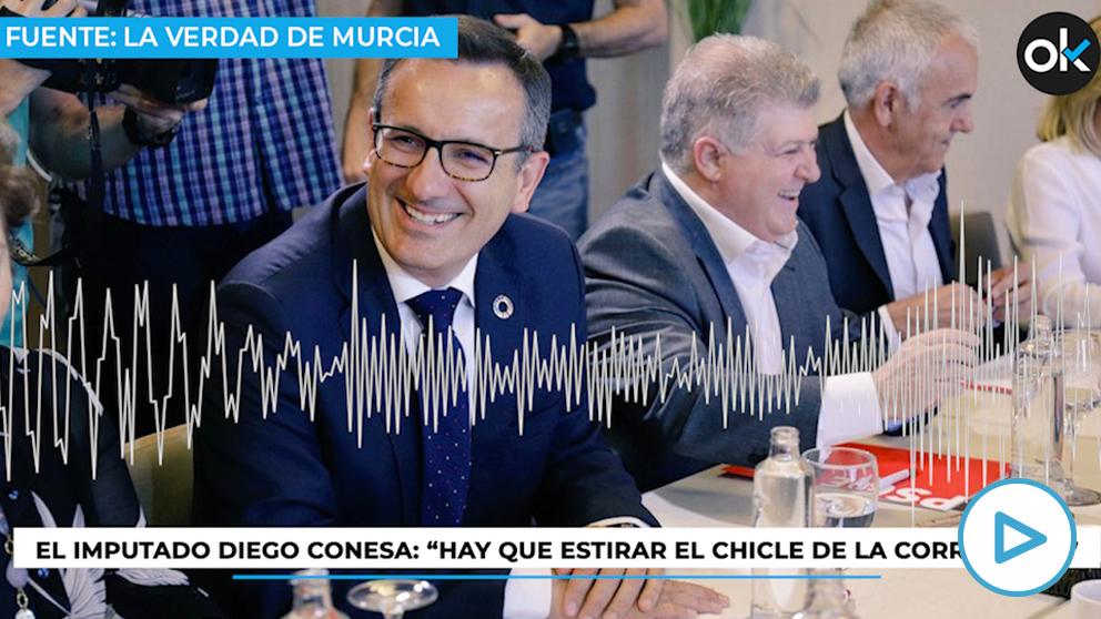 El secretario general del PSOE de Murcia, Diego Conesa.