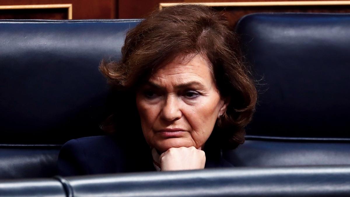 Carmen Calvo en el Congreso. (Foto: PSOE)