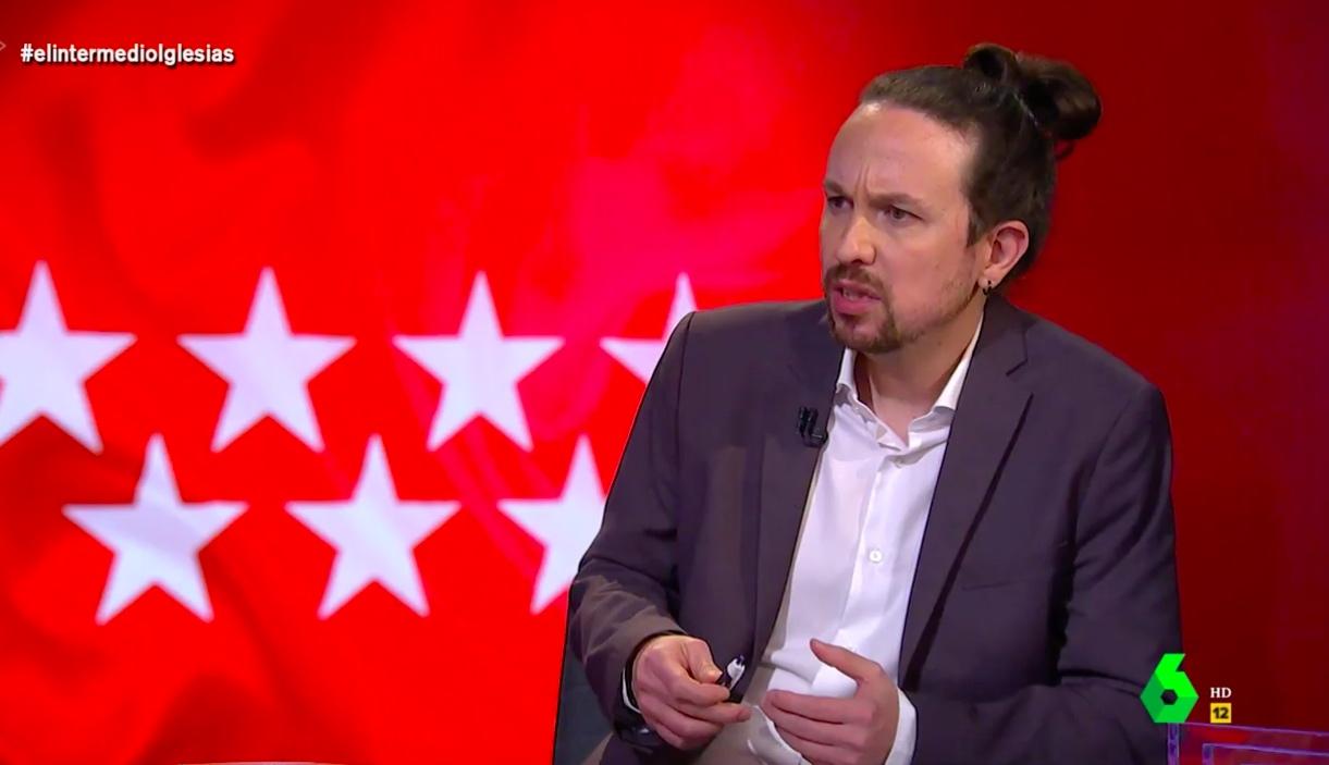 Iglesias durante la entrevista en El Intermedio (La Sexta)