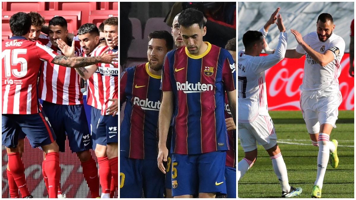 Atlético de Madrid, Barcelona y Real Madrid.