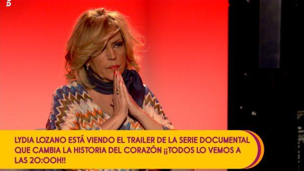 Lydia Lozano pudo ver antes que Antonio David Flores el trailer del documental sobre Rocío Carrasco