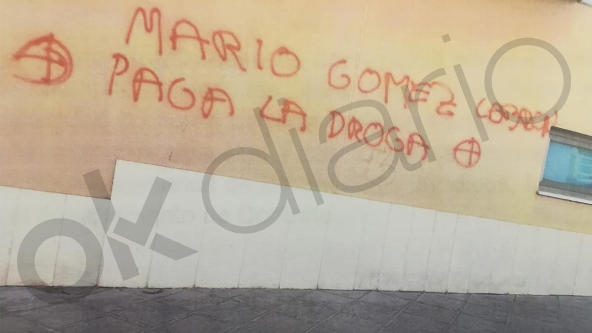 Pintada que apareció en Murcia el pasado octubre contra su vicealcalde.