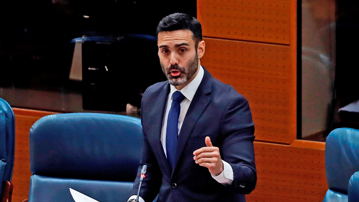 Sergio Brabezo, en la Asamblea de Madrid.