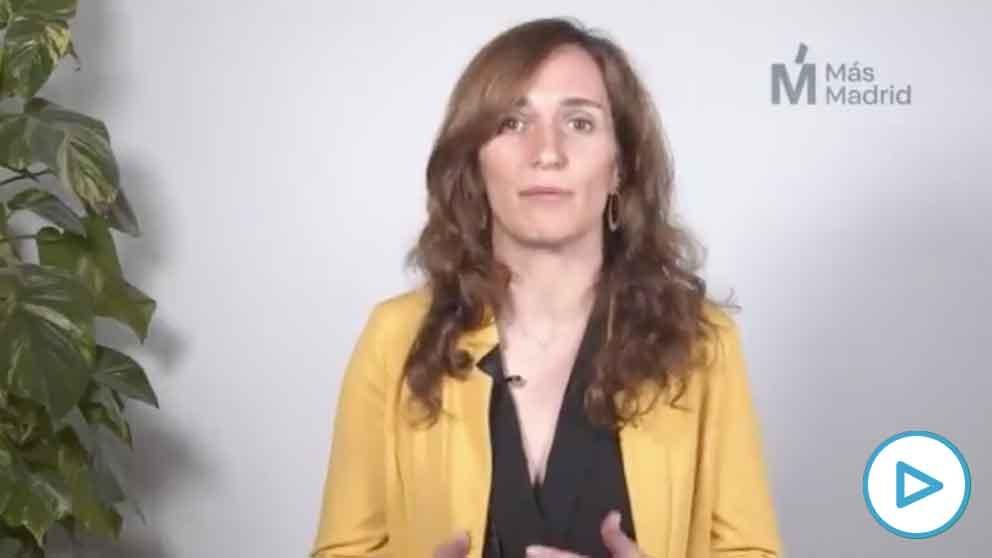 La candidata de Más Madrid a las elecciones, Mónica García.