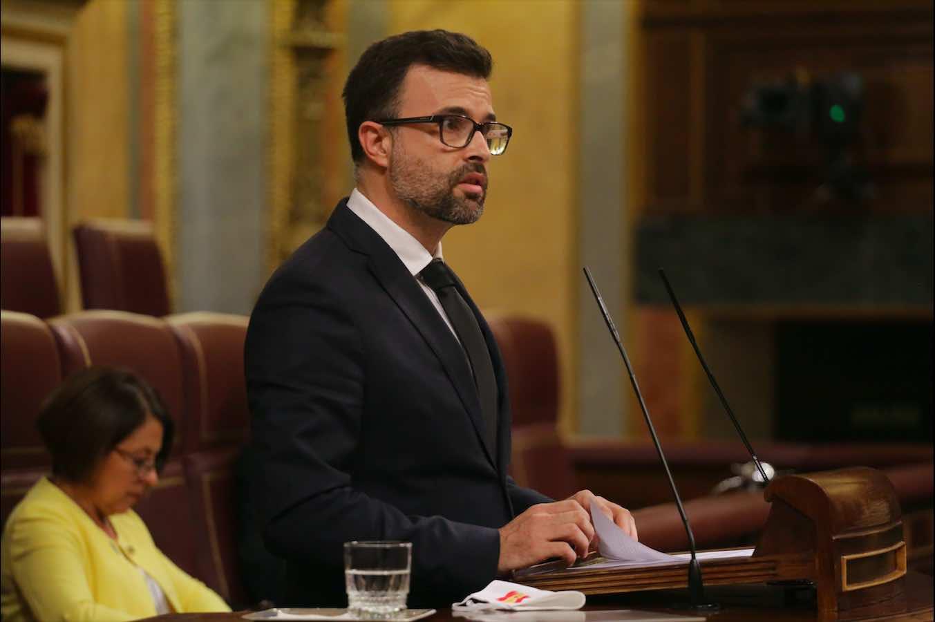 El diputado Pablo Cambronero, en un Pleno del Congreso.