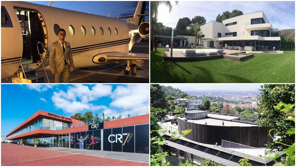 Varias de las propiedades de Cristiano Ronaldo y Leo Messi