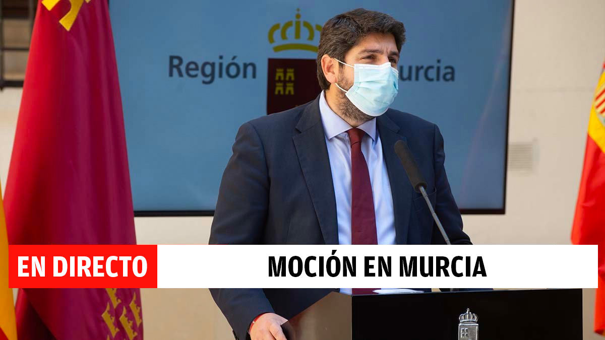 Última hora de la moción de censura en Murcia, en directo