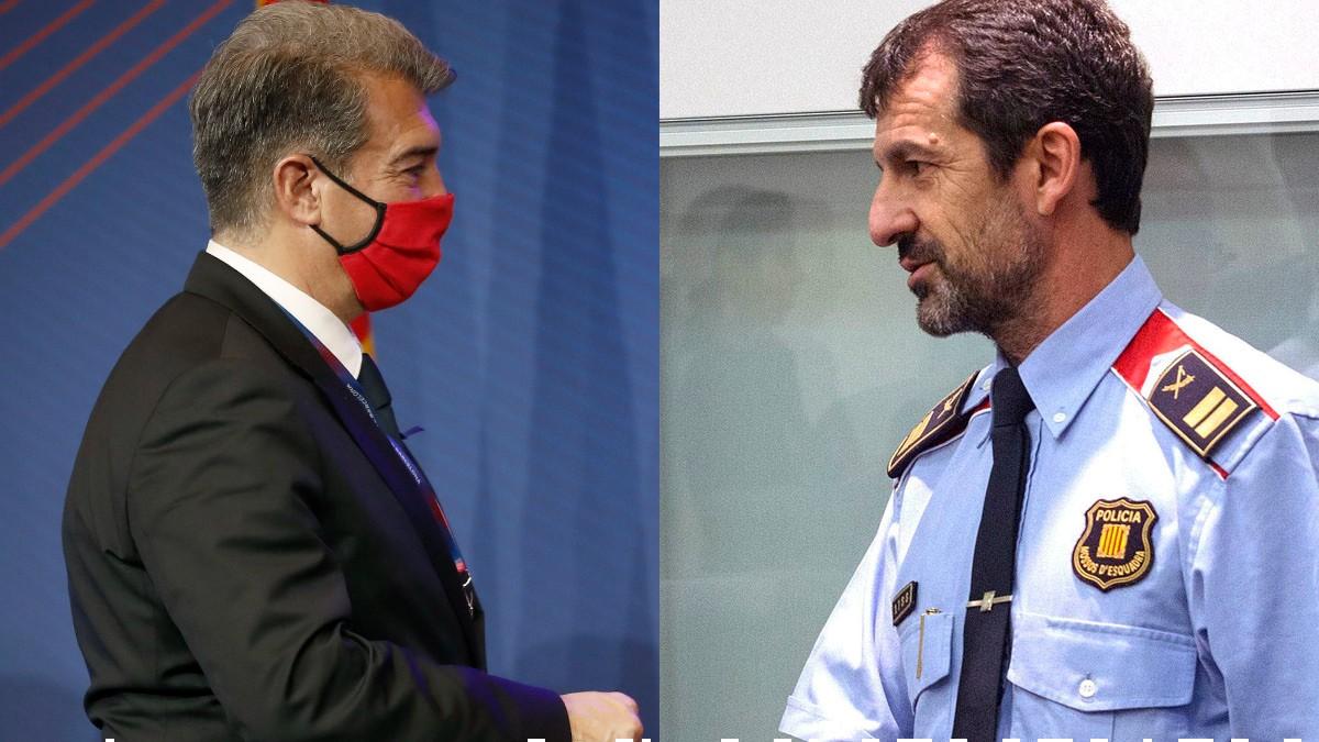 Joan Laporta y Ferran López. (EFE)