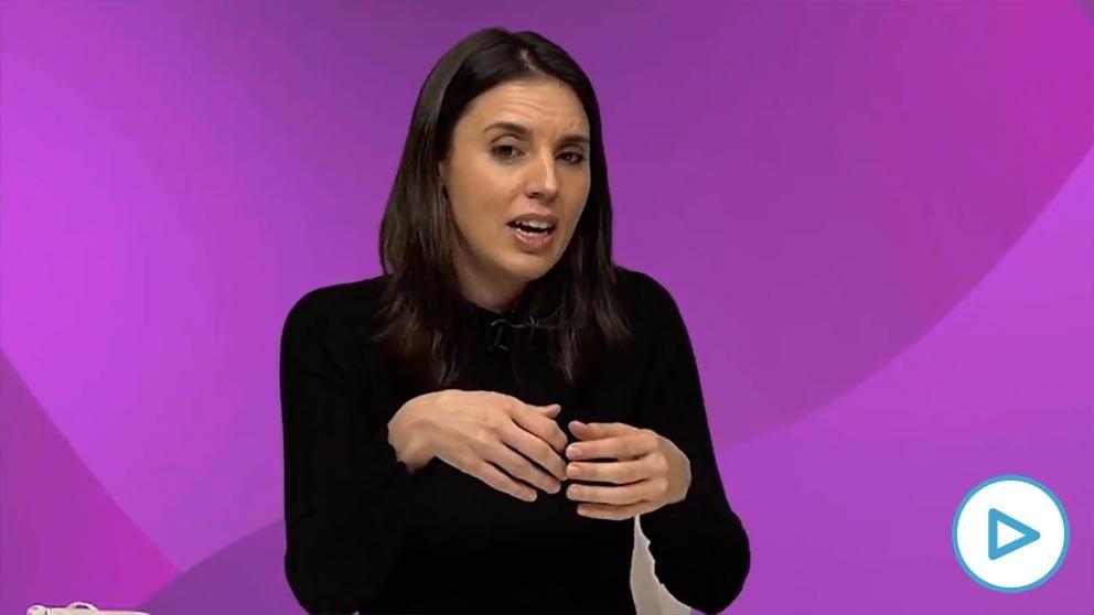 Irene Montero, ministra de Igualdad.