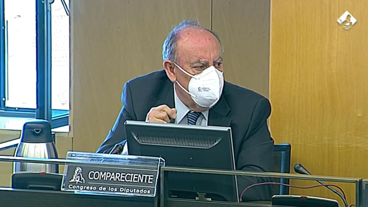 El comisario Felipe Lacasa durante la comisión Kitchen.