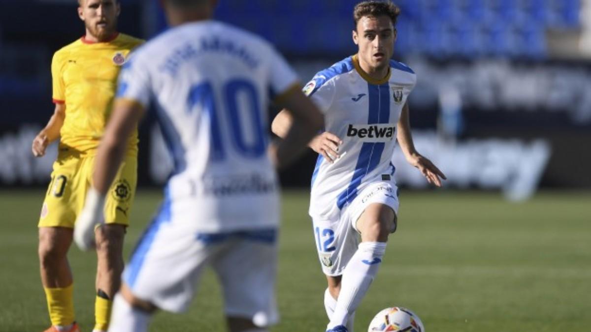Daniel Lasure durante un partido con el Leganés. (cdleganes.com)