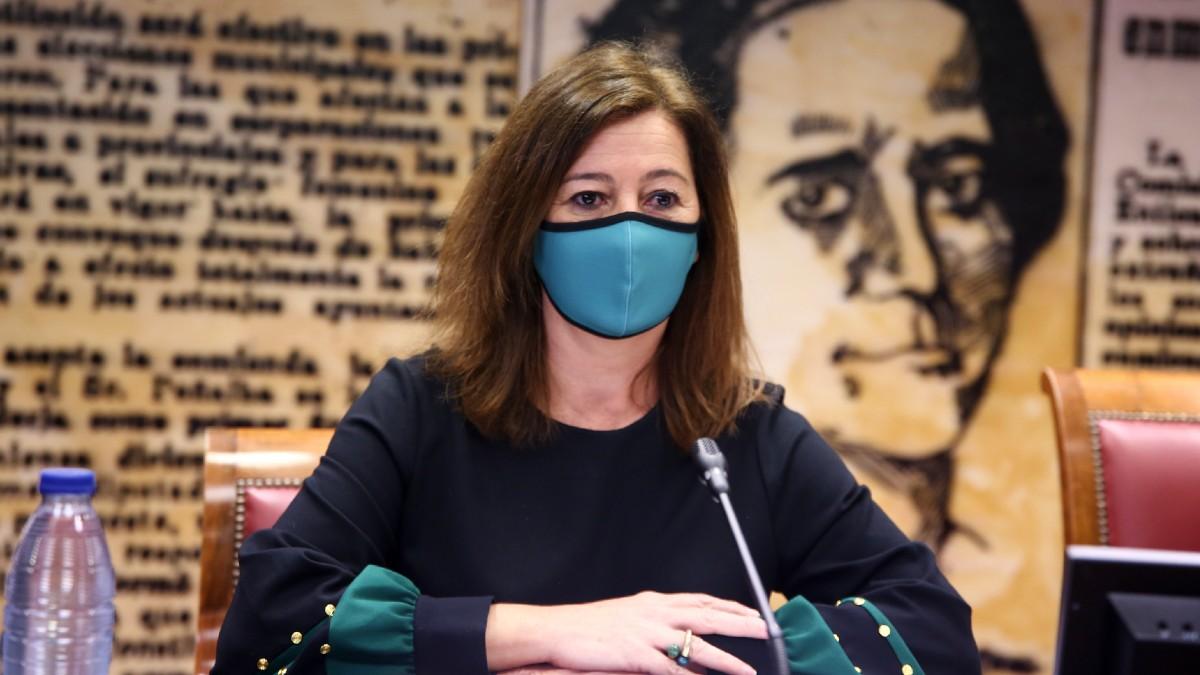 La presidenta del Gobieno de las Islas Baleares, Francina Armengol, durante una ponencia en el Senado. (Foto: Europa Press)