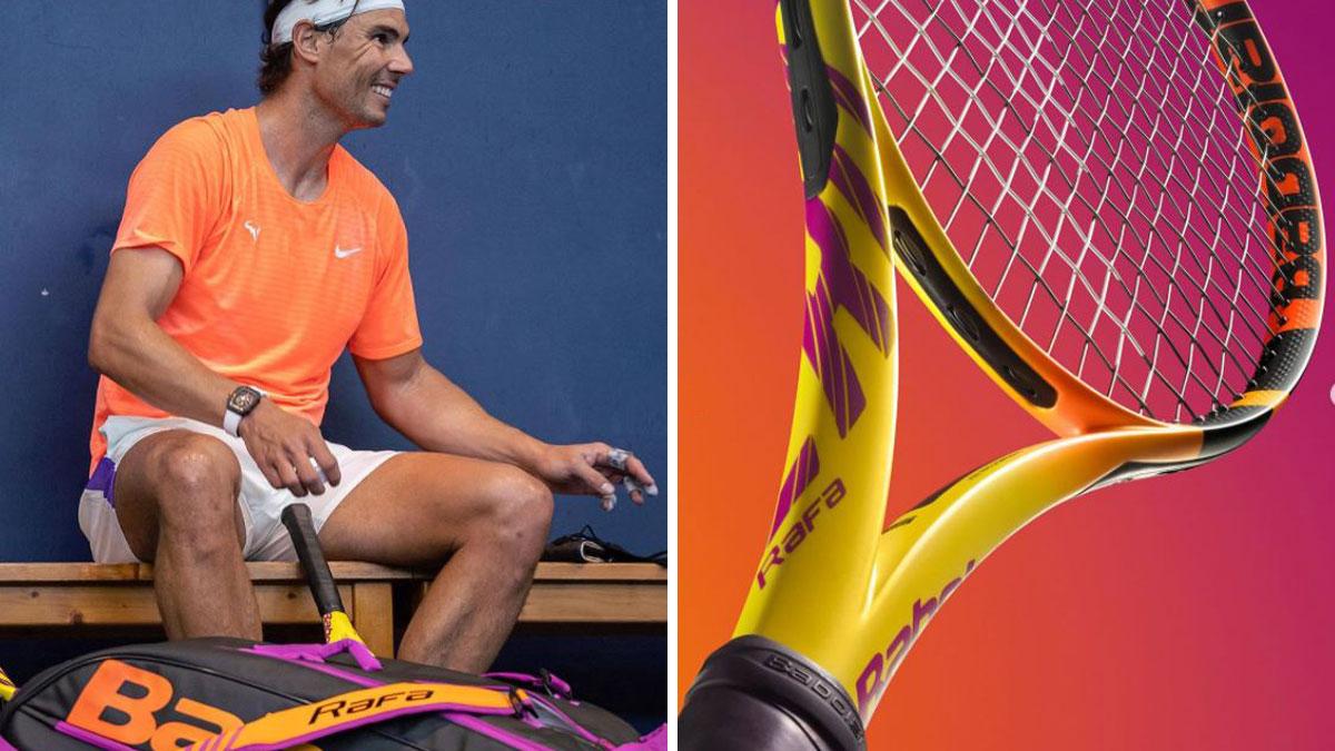 Rafa Nadal presenta su nueva raqueta (Instagram de Rafa Nadal)
