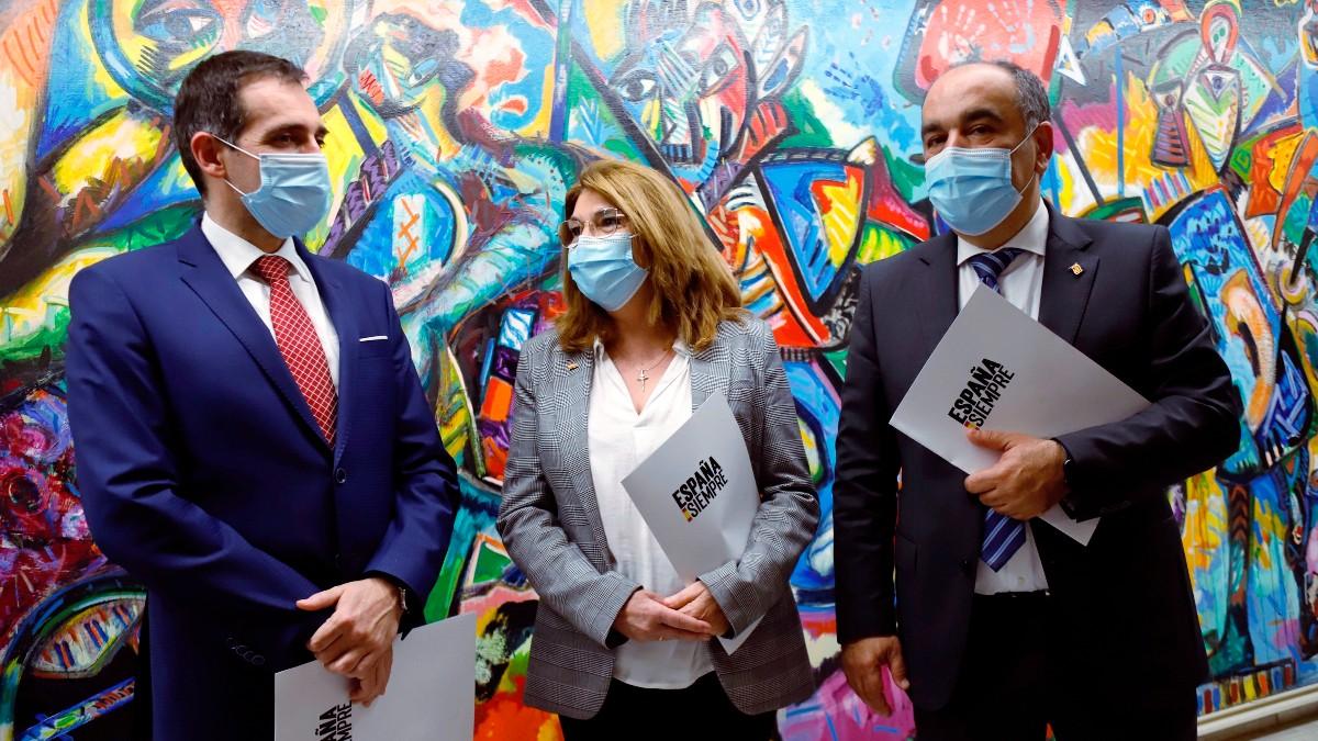Los tres diputados expulsados de Vox en Murcia