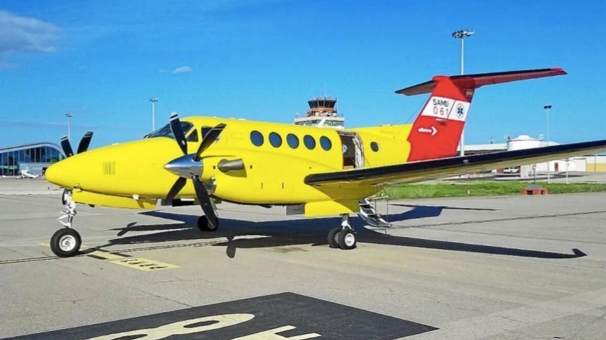 Uno de los aviones ambulancias operados por el grupo Eliance Aviation Global Services.