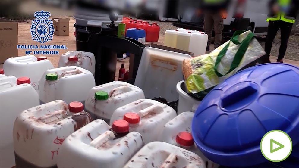 Policía Nacional desmantela un laboratorio de cocaína