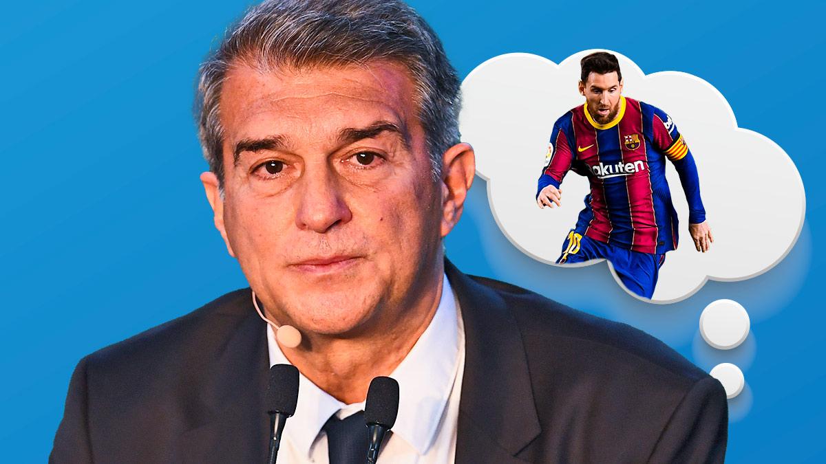 Laporta tiene un plan para retener a Messi.