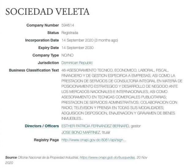 Bono constituye 4 'offshores' en República Dominicana tras concederle su presidente la nacionalidad