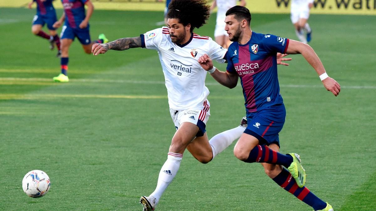 Huesca y Osasuna empataron a cero en la jornada 28 de Liga. (EFE)