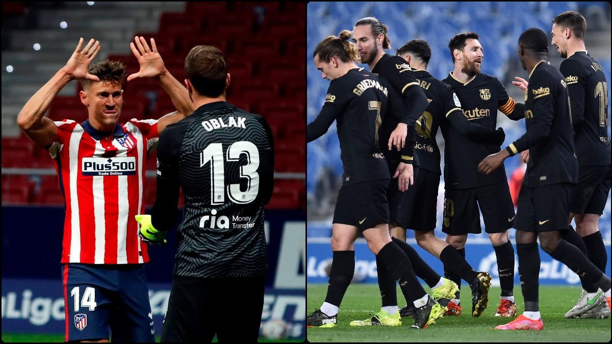 Atlético y Barcelona cumplieron y ganaron sus partidos.