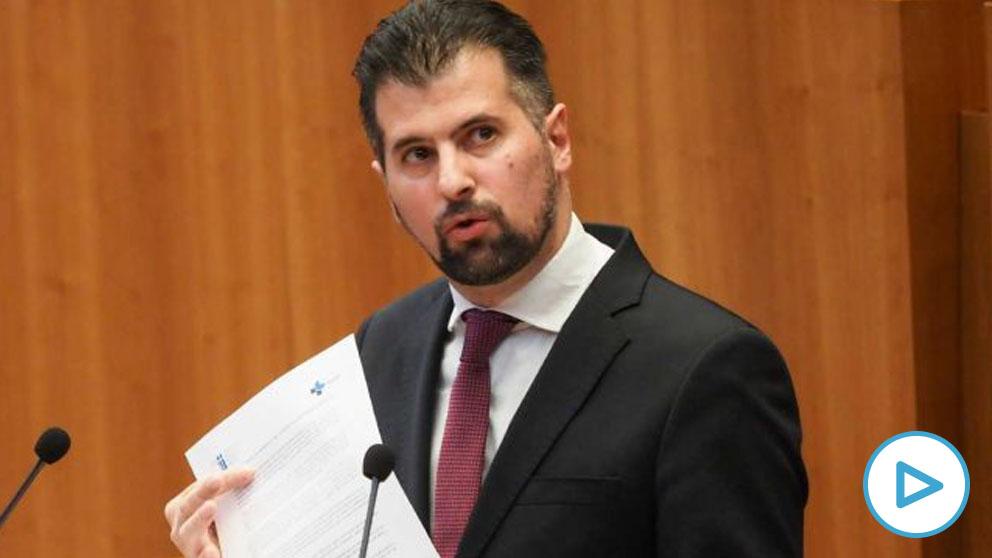 El portavoz del Grupo Parlamentario PSOE, Luis Tudanca, en las Cortes de Castilla y León y candidato socialista a la moción de censura. Foto- EP