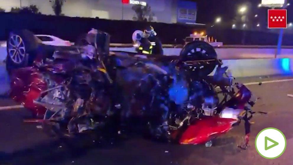 Un coche que circulaba en sentido contrario por la A-2 provoca un accidente con dos muertos