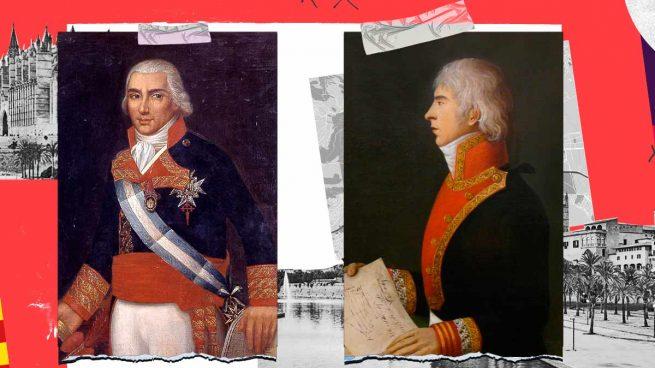 Los almirantes de la Batalla de Trafalgar que perderán sus calles en Palma.