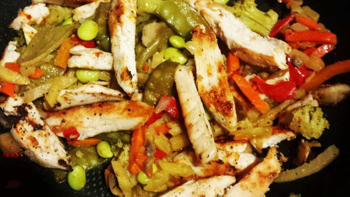 Chow fan de pollo, receta sencilla