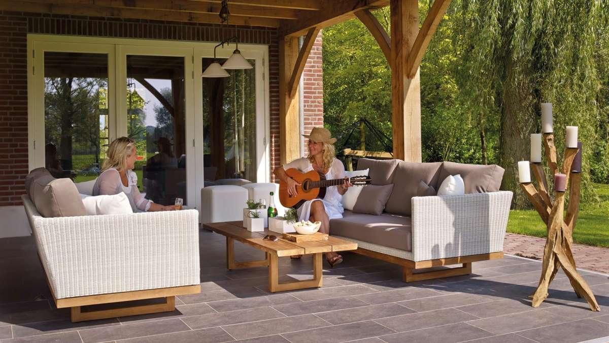 Los patios son perfectos para disfrutar del buen tiempo