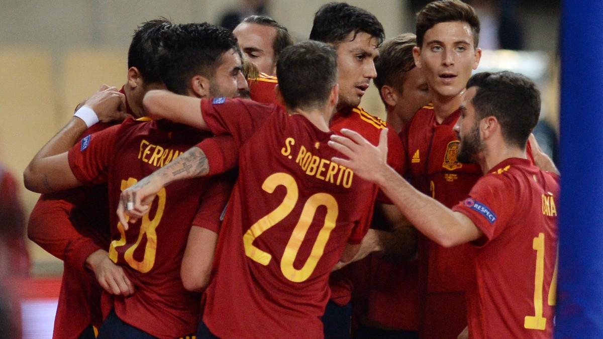 Los jugadores de la selección celebran un gol contra Alemania. (AFP) (AFP)