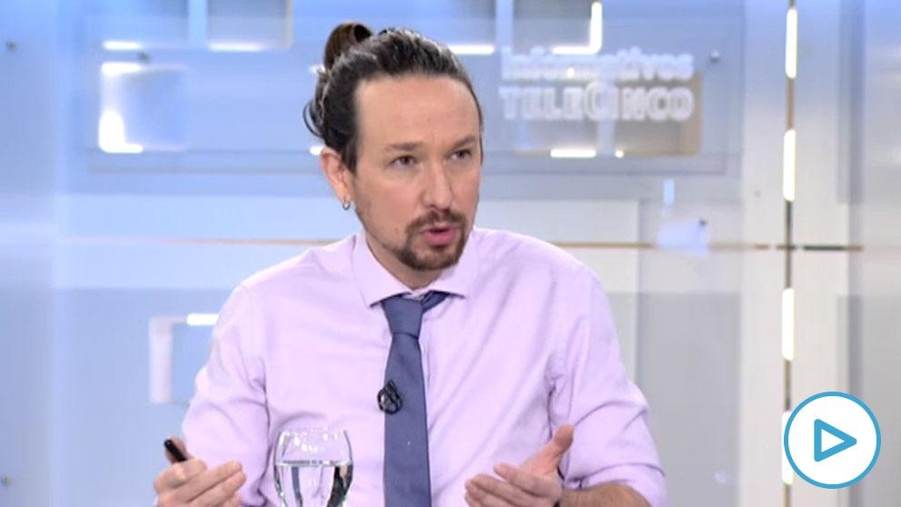 Pablo Iglesias en una entrevista en Telecinco.